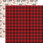 Cardstock - Little Lumberjack - Lumberjack Plaid