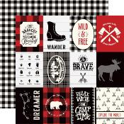 "Cardstock - Little Lumberjack -  Journaling Cards 3"" X 4"""