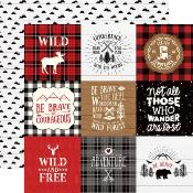 "Cardstock - Little Lumberjack - Journaling Cards 4""X4"""