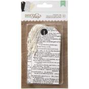 Tags- Diy Shop - Newsprint - 12/Pkg
